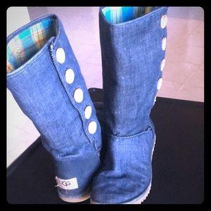 Original UGG Denim boots size 5